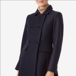 VTG‼️EUC NEHRU DOUBLE BREASTED NAVY COAT SIZE: 8
